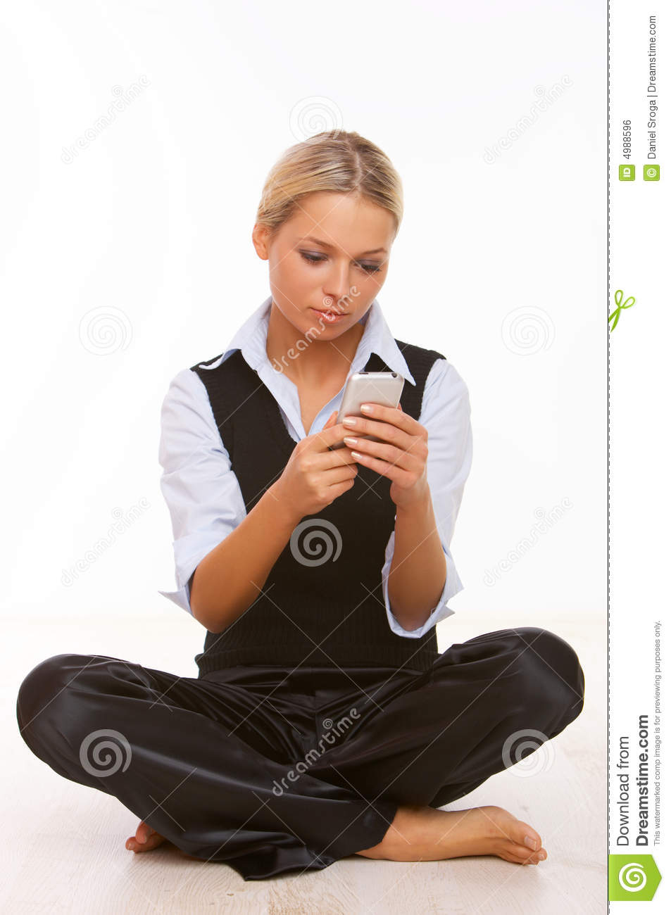 Young Woman Talking On Cell Phone Royalty Free Stock ...