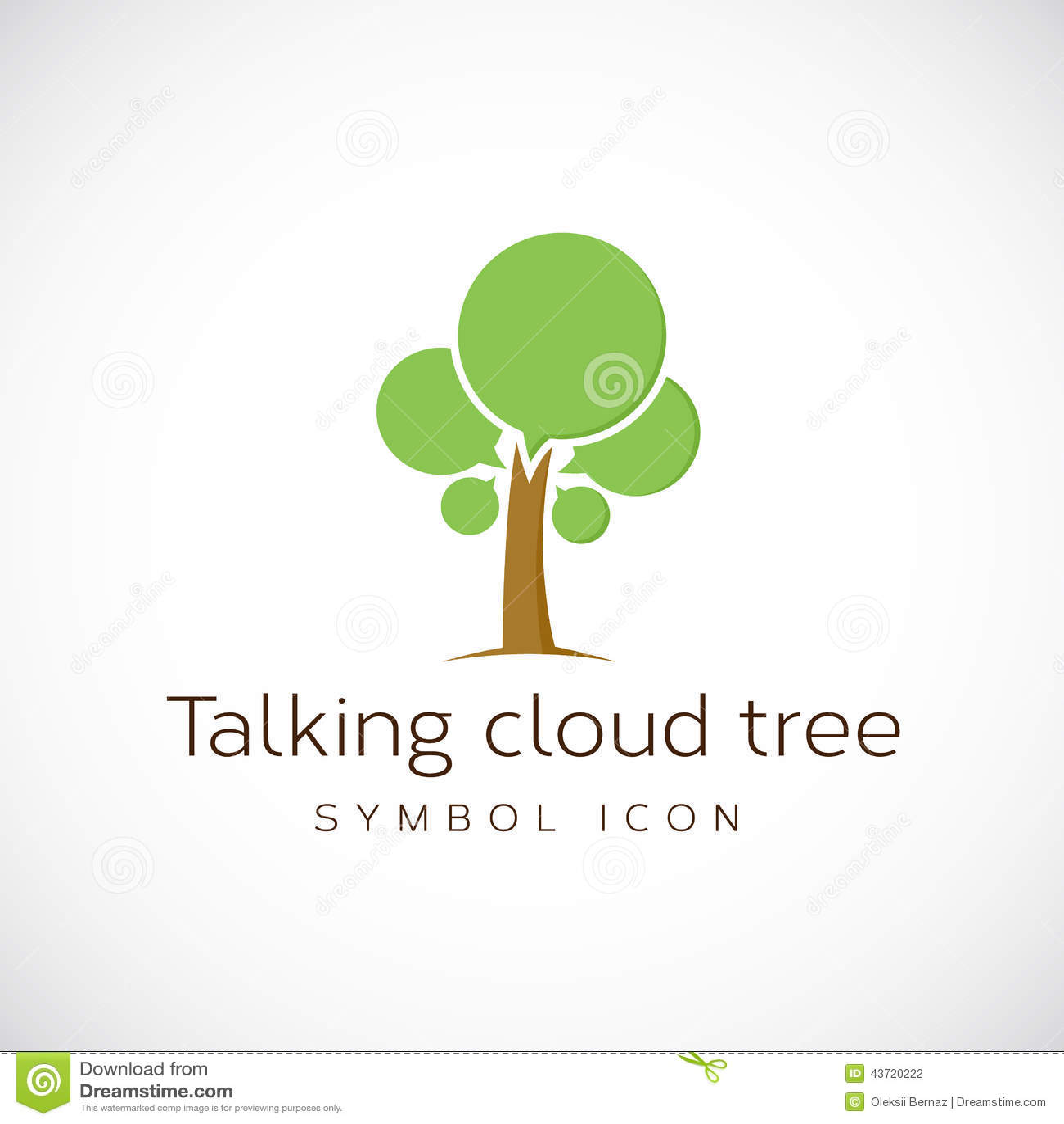 talking cloud tree vector concept symbol icon stock vector clipart talking mouth clipart talking bubble
