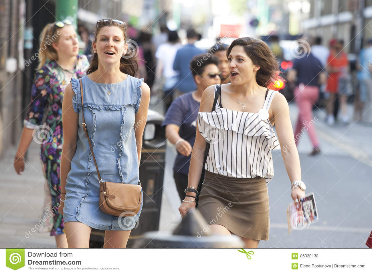 Talking to girls on the street