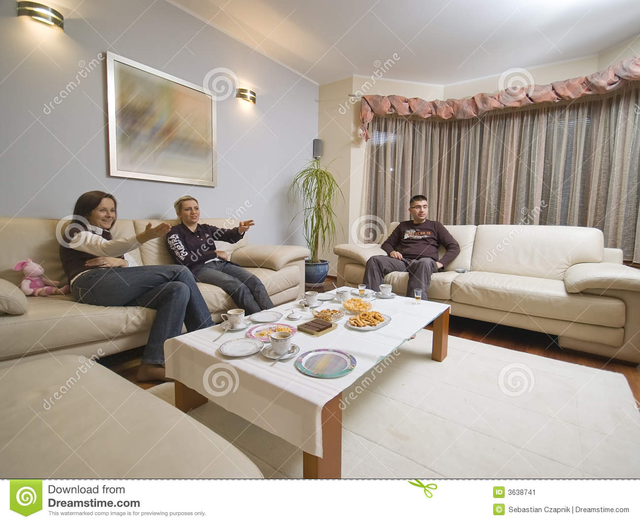talking in living room stock image image of adults looking 3638741. Black Bedroom Furniture Sets. Home Design Ideas