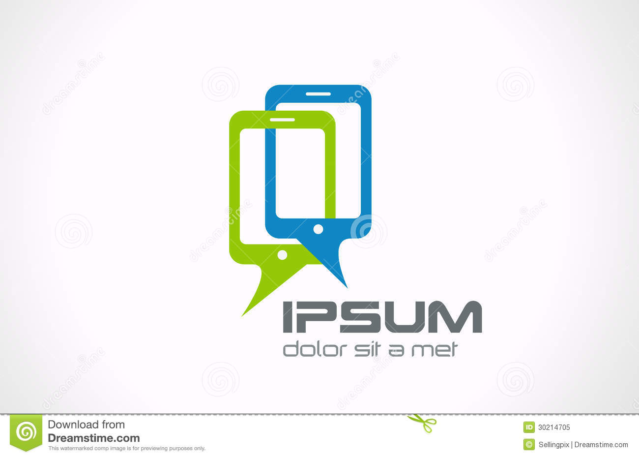 Talking mobile phones logo smartphone connection royalty for Mobile logo