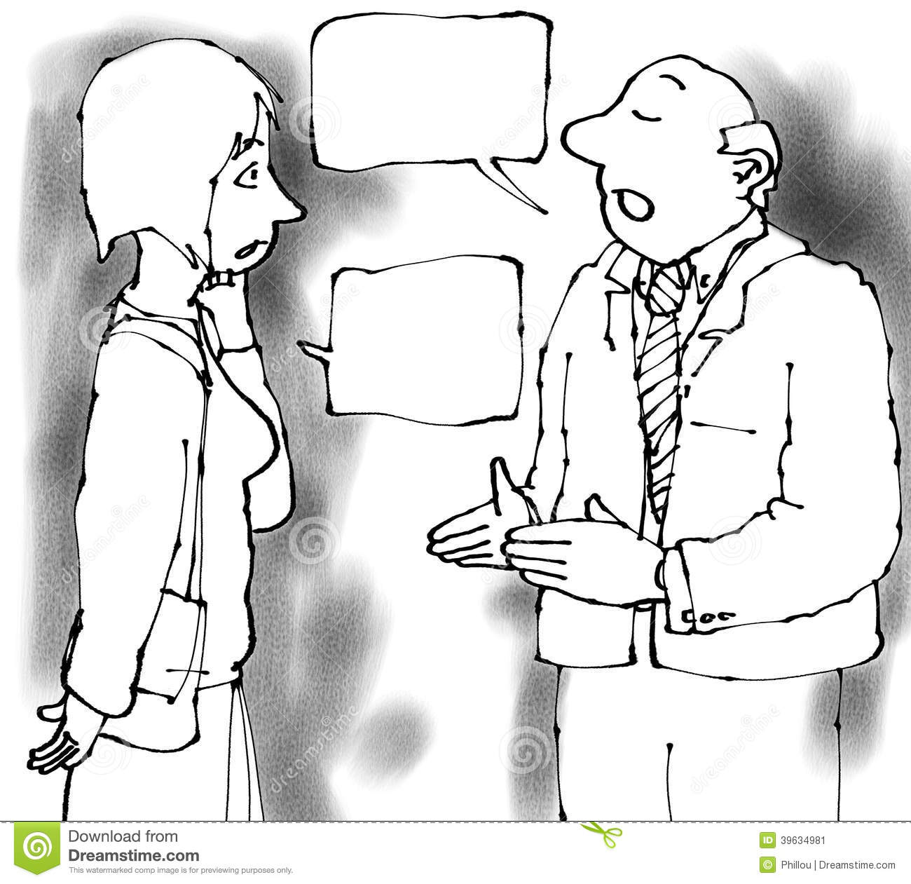 Talking Pair Stock Illustration. Illustration Of Talking