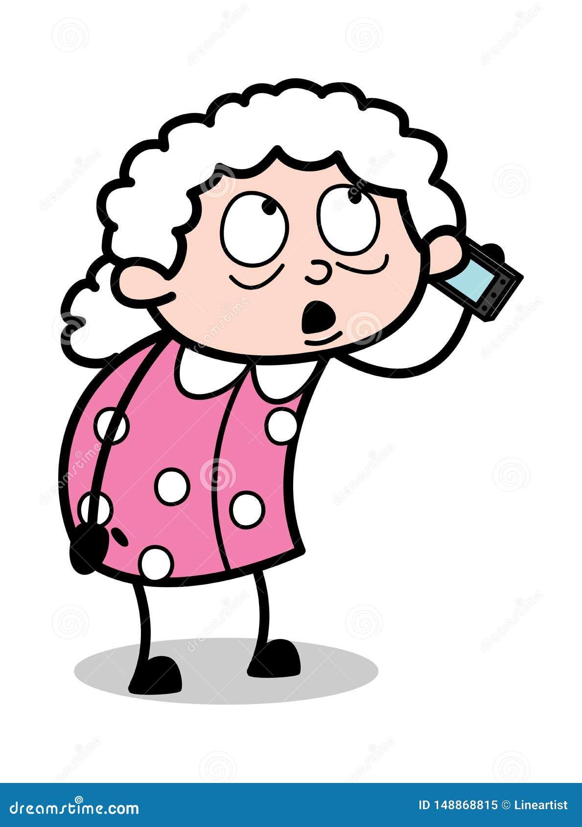 Phone talking cartoon on File:Woman Talking