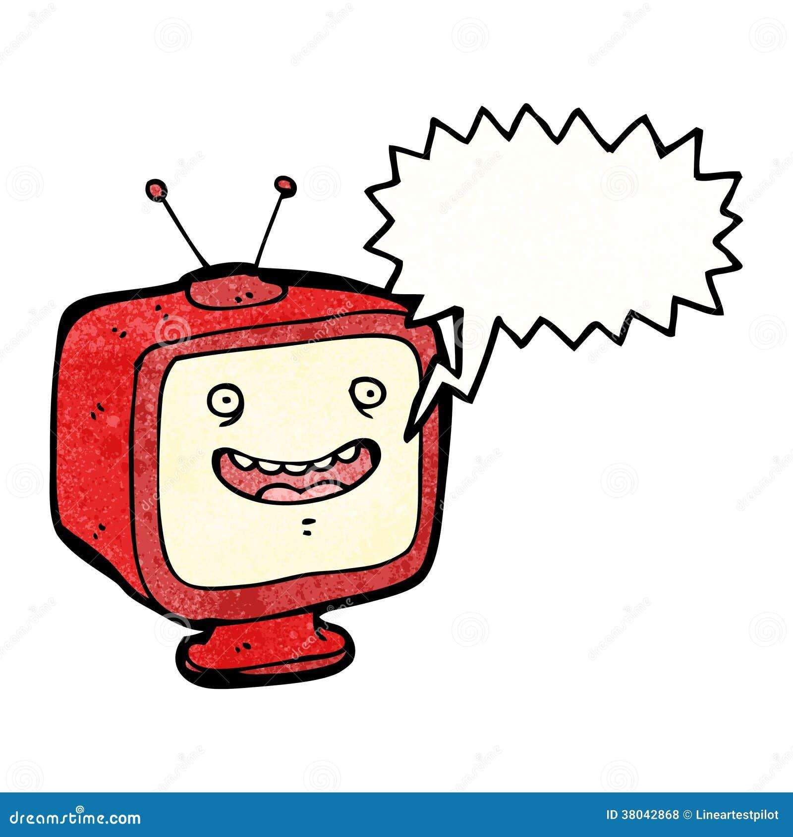 Talking Television Cartoon Character Stock Vector Illustration Of