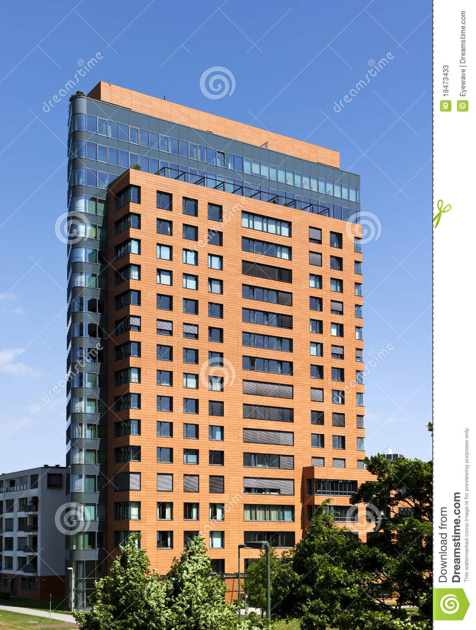 Tall Apartment Building Stock Image Image Of High Tall 19473433