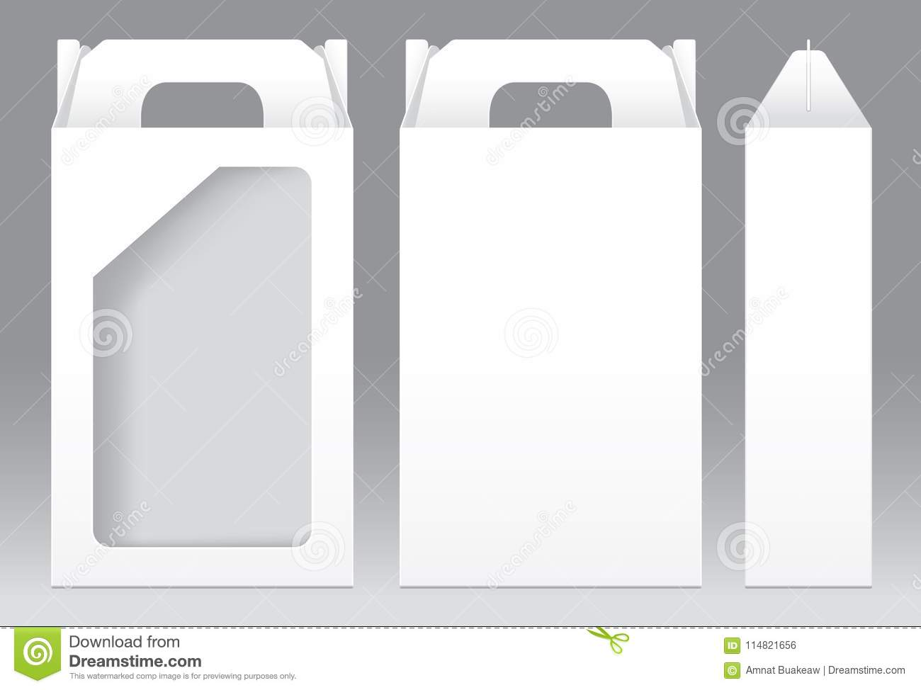 Tall box white window shape cut out packaging template blank stock tall box white window shape cut out packaging template blank maxwellsz