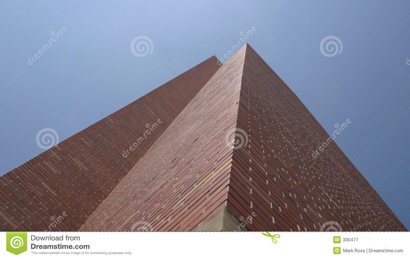 tall brick building stock image image of skyscraper blue 330477. Black Bedroom Furniture Sets. Home Design Ideas