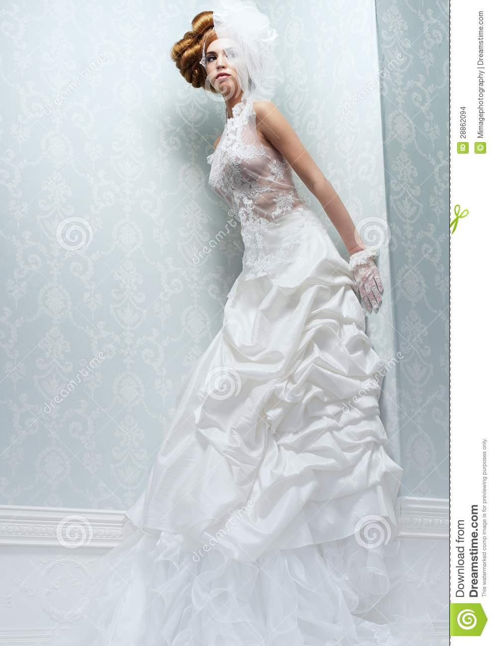 tall bride with white wedding dress stock images image 28862094