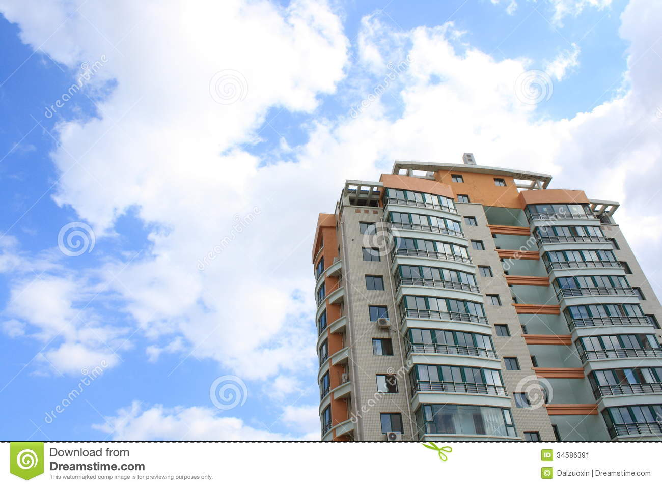 Tall building stock image image 34586391 for Multi storey apartment modern design