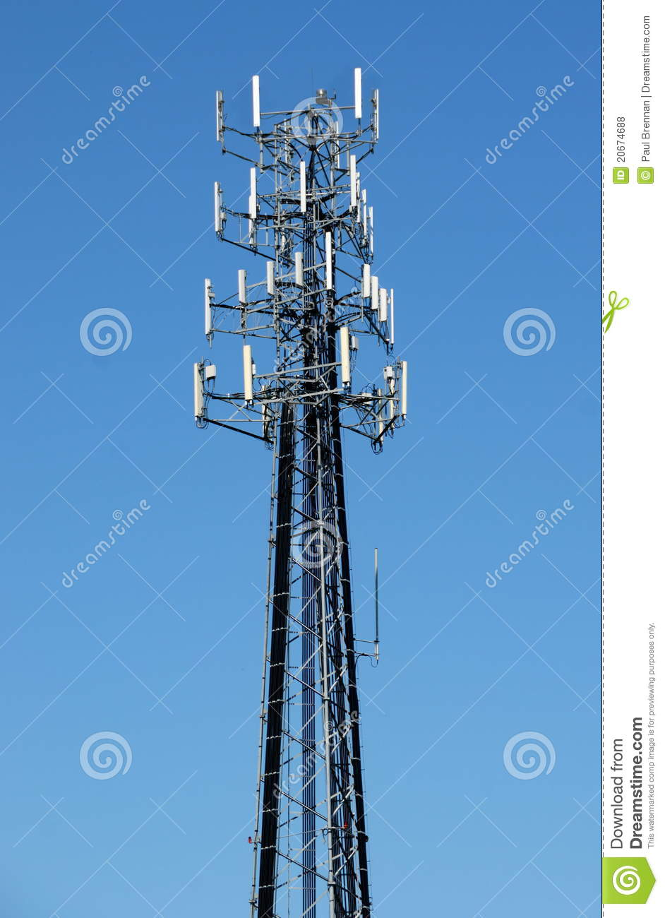 Tall Cell Tower Royalty Free Stock Photos - Image: 20674688: www.dreamstime.com/royalty-free-stock-photos-tall-cell-tower...