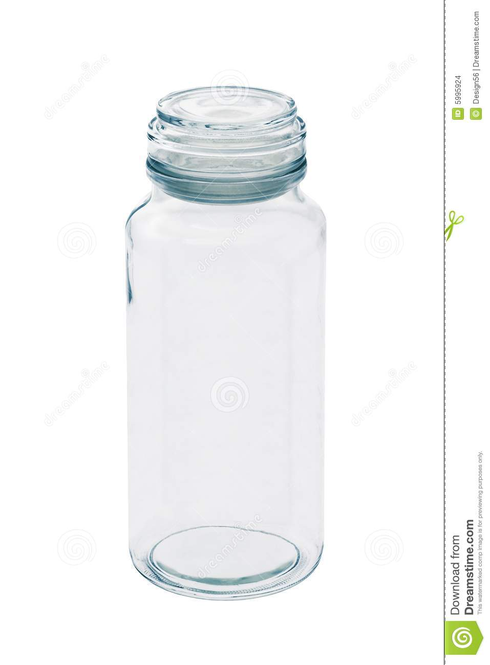 Tall Empty Glass Jar With Lid Stock Photo - Image of open