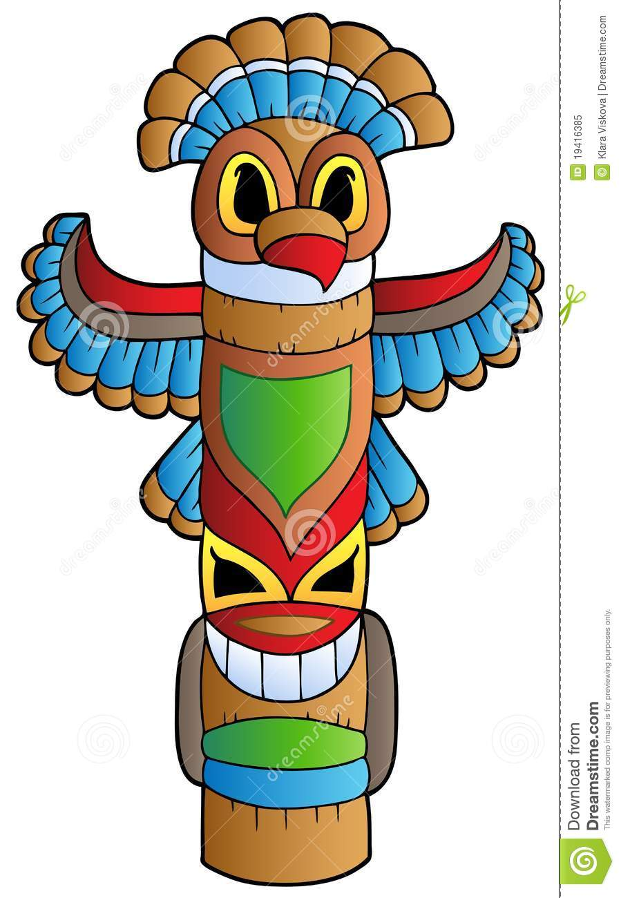 tall indian totem royalty free stock photo image 19416385