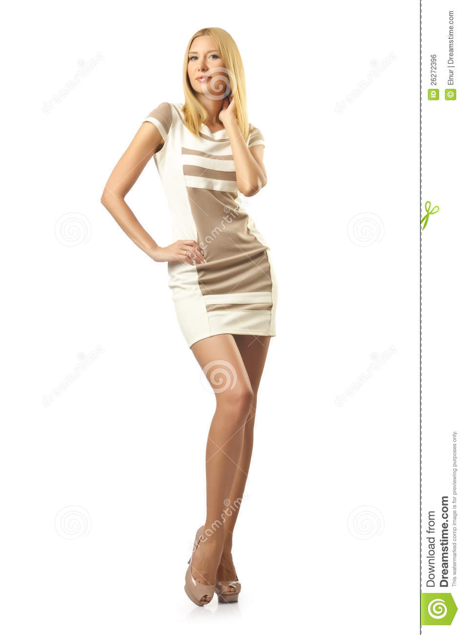 Tall Model On White Royalty Free Stock Image - Image: 26272396