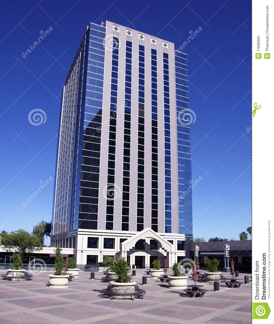 Tall Modern Office Building Stock Image Image 14595691