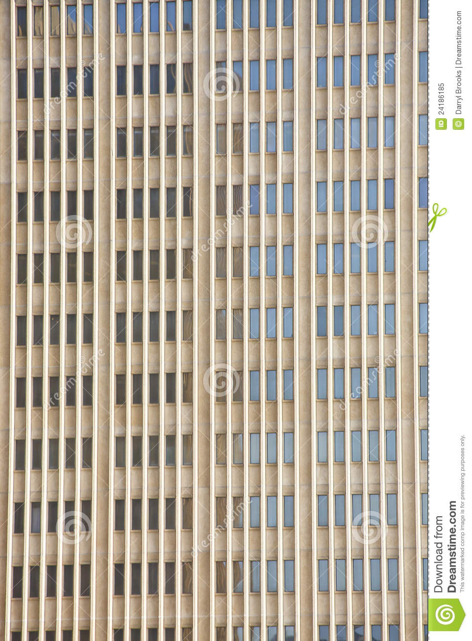 Tall Narrow Windows On Brown Stone Building Royalty Free
