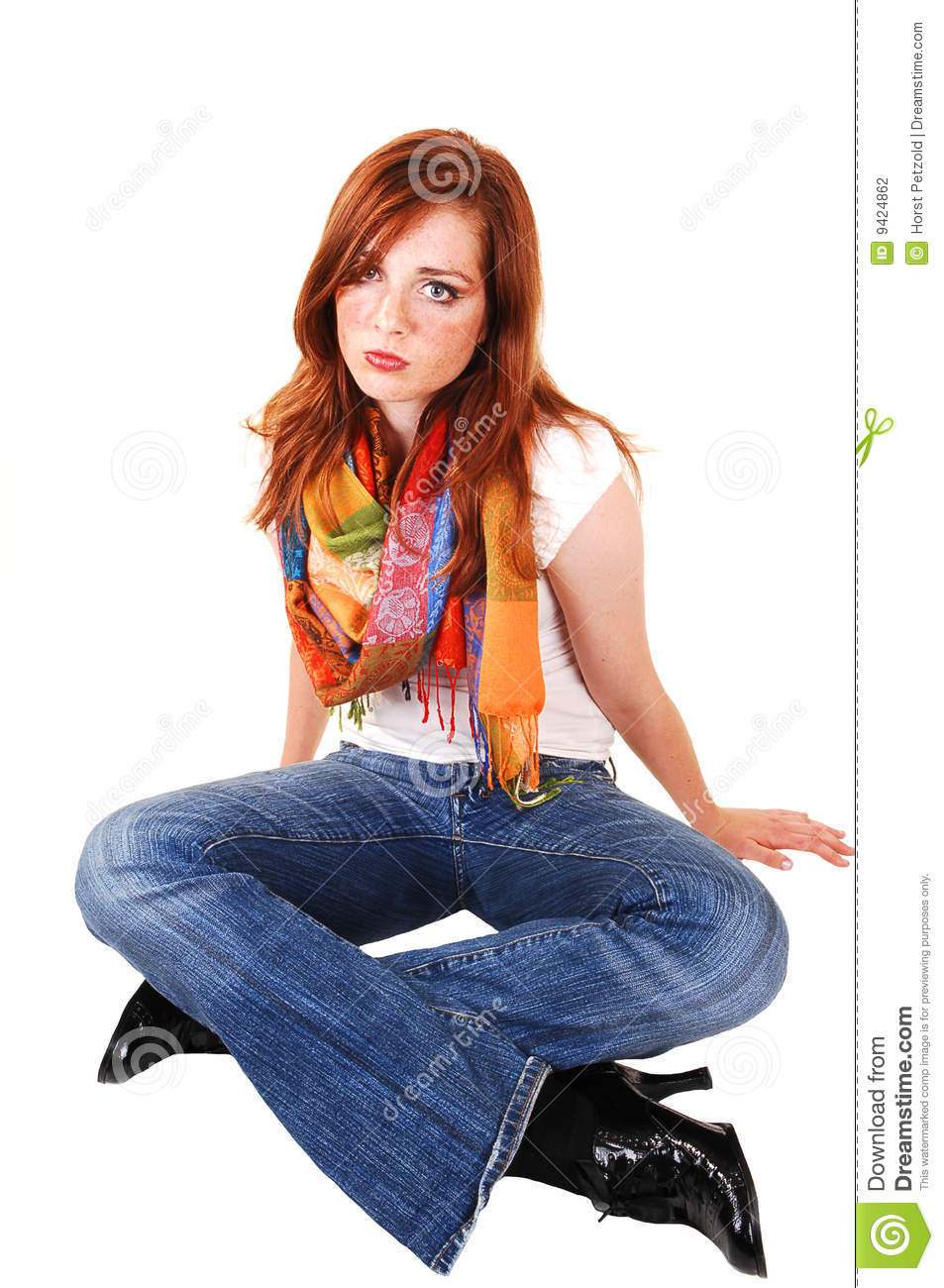 Tall Red Hair Girl Stock Photography Image 9424862