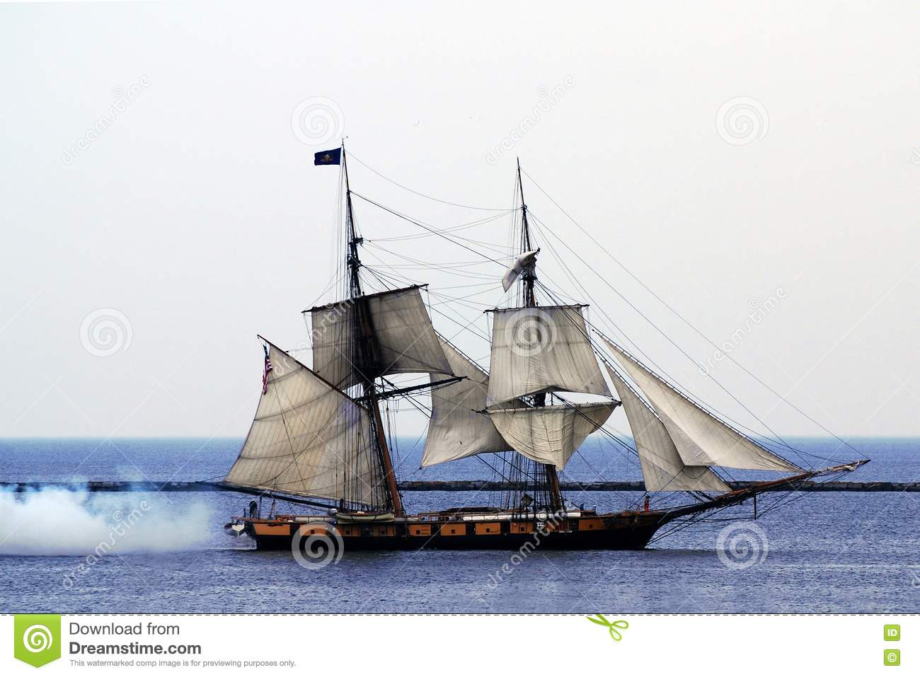 sailing ship fire smoke - photo #18