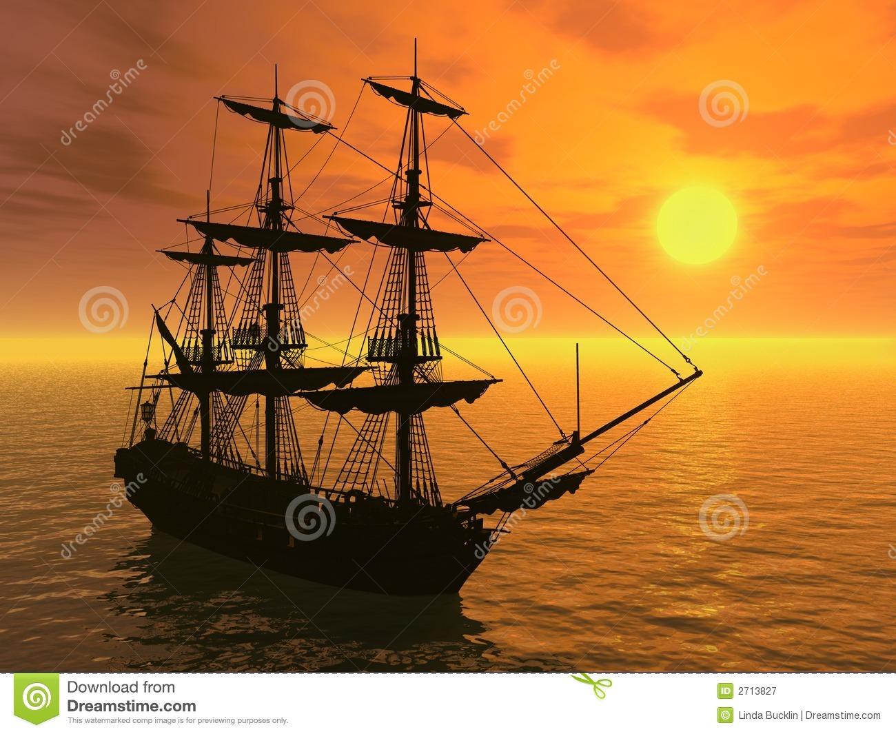 Tall Ship At Sunset Royalty Free Stock Photography - Image ...
