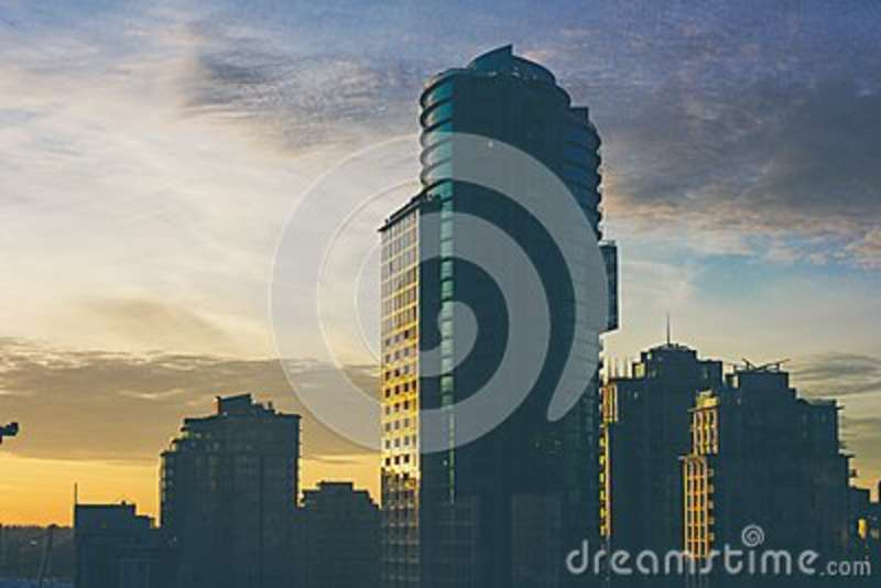 Download Tall Sky Scraper stock image. Image of sunset, photo - 82956137