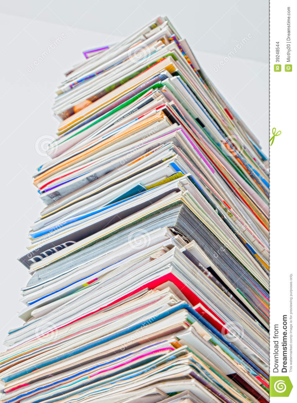 Tall Stack Of Magazine, HDR Color Stock Photo - Image of ...