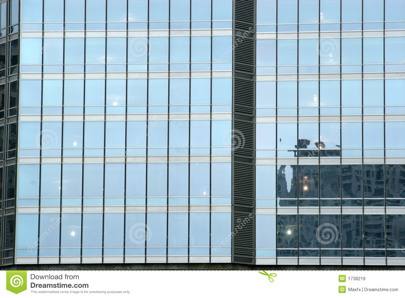 Building Front Glass Elevation : Tall urban building glass skyscraper stock image