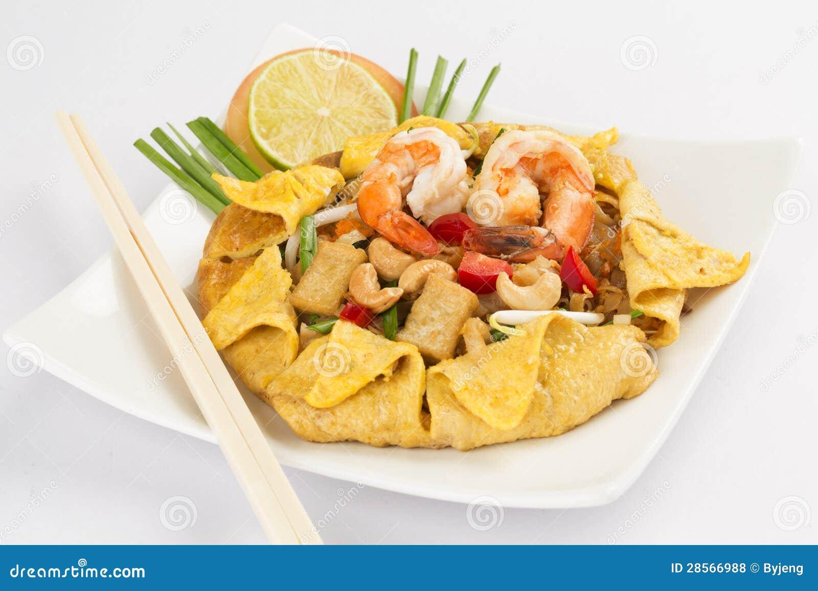 Tallarines de arroz Stir-fritos (pista tailandesa)