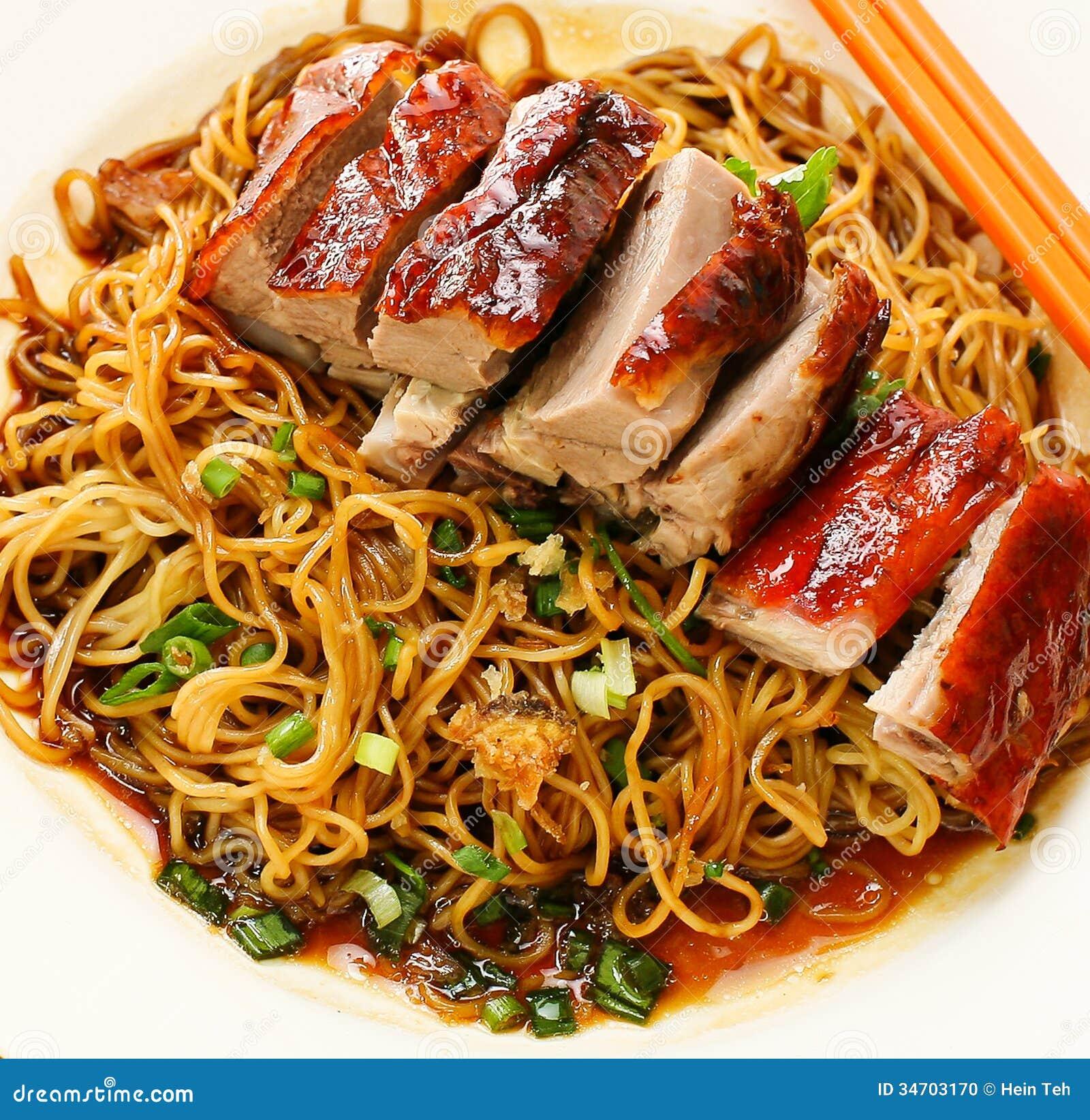 Tallarines del pato comida Asia