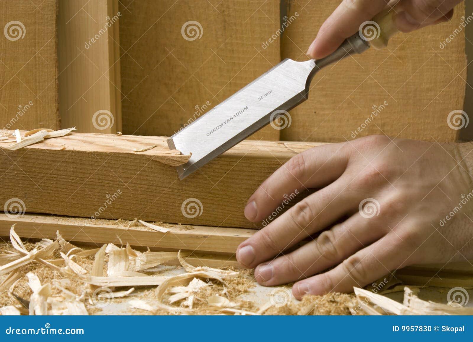 Taller de la carpinter a con las herramientas de madera for Carpinteria de madera