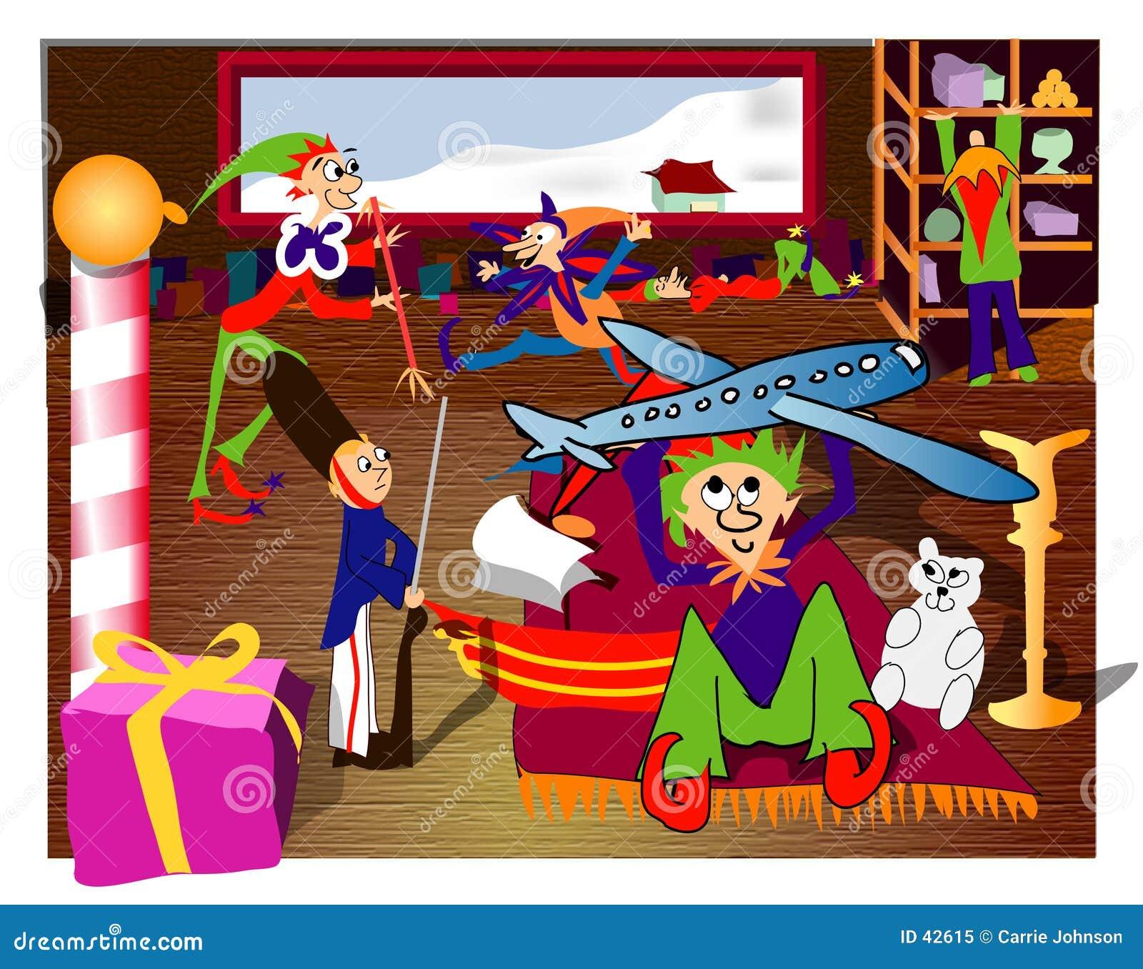 Download Taller de Santa stock de ilustración. Ilustración de cabrito - 42615