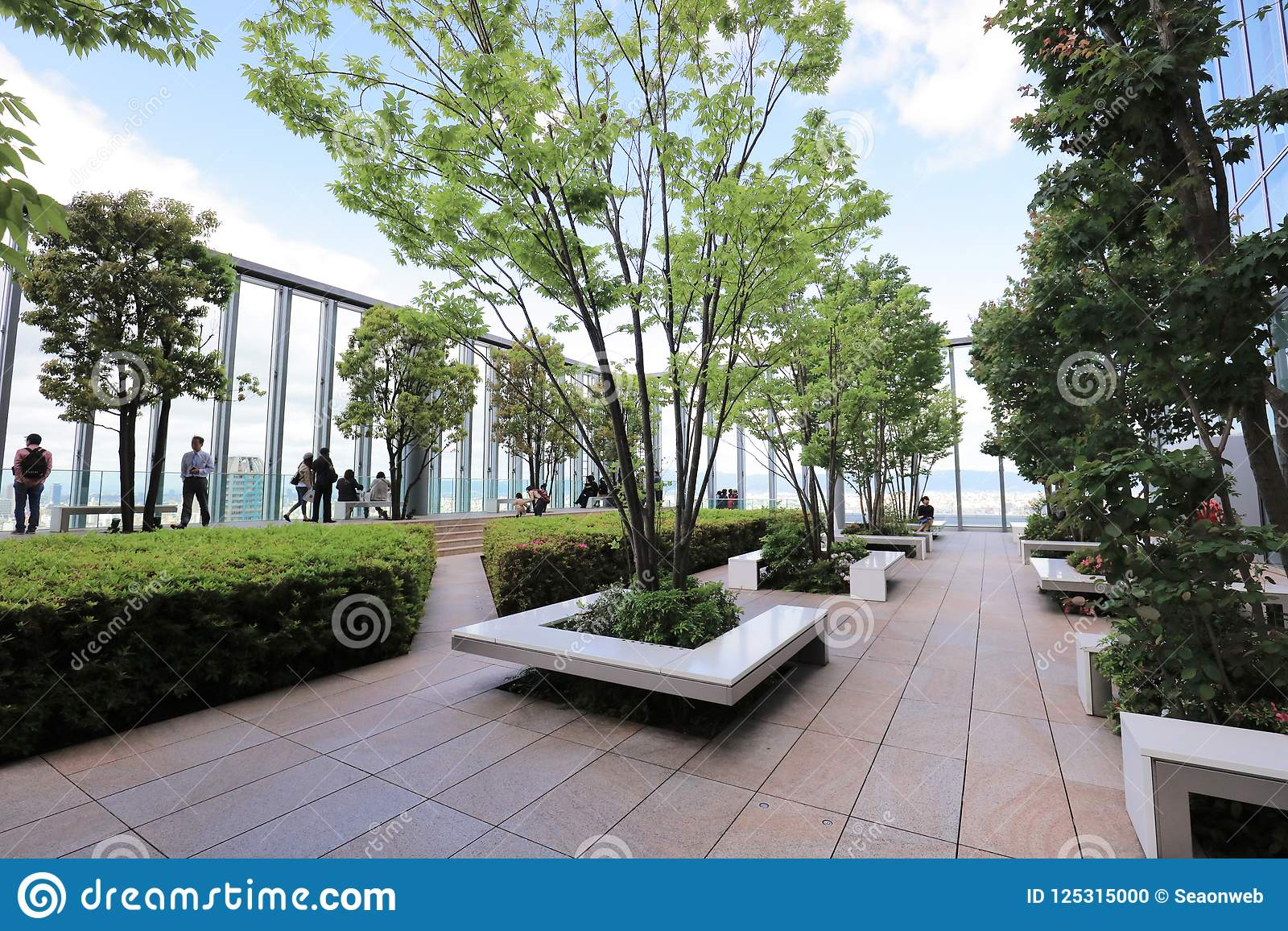 Download The Roof Garden At Osaka Abeno Harukas Stock Photo
