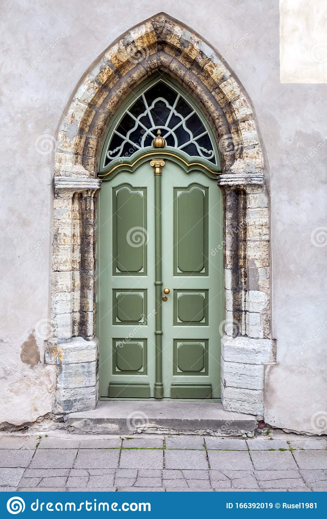 Tallinn decorated doors stock image. Image of architecture ...