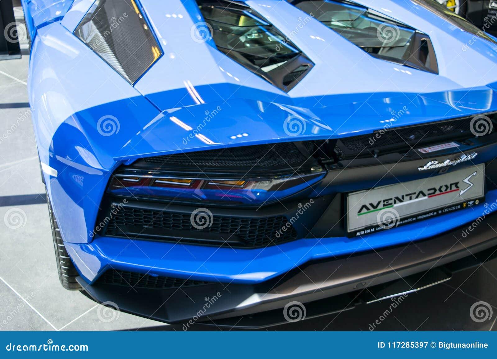 Back View Of A New Lamborghini Aventador S Coupe Headlight Car