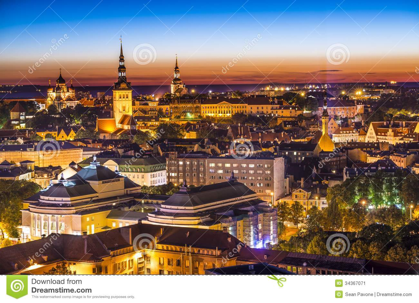 Tallinn Estonia linia horyzontu