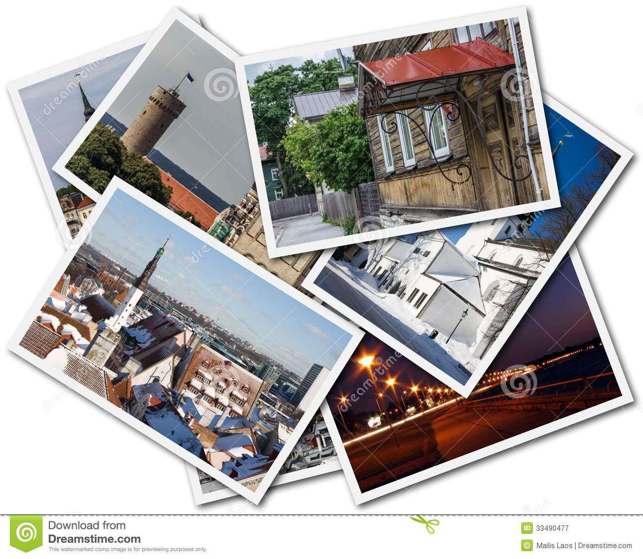 Download Tallinn Photos stock image. Image of postcard, city, pictures - 33490477