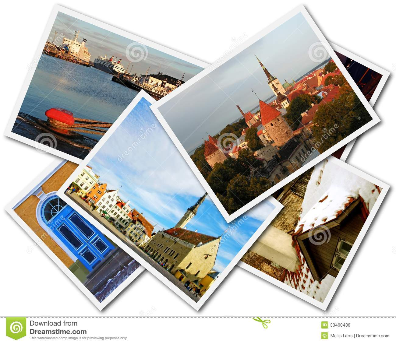 Download Tallinn Photos stock photo. Image of snap, collage, overlapping - 33490486