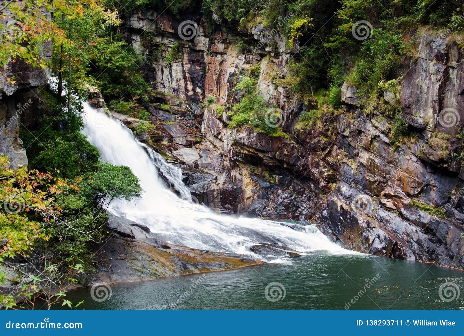 Tallulah Gorge Bridal Veil-waterval, Georgië