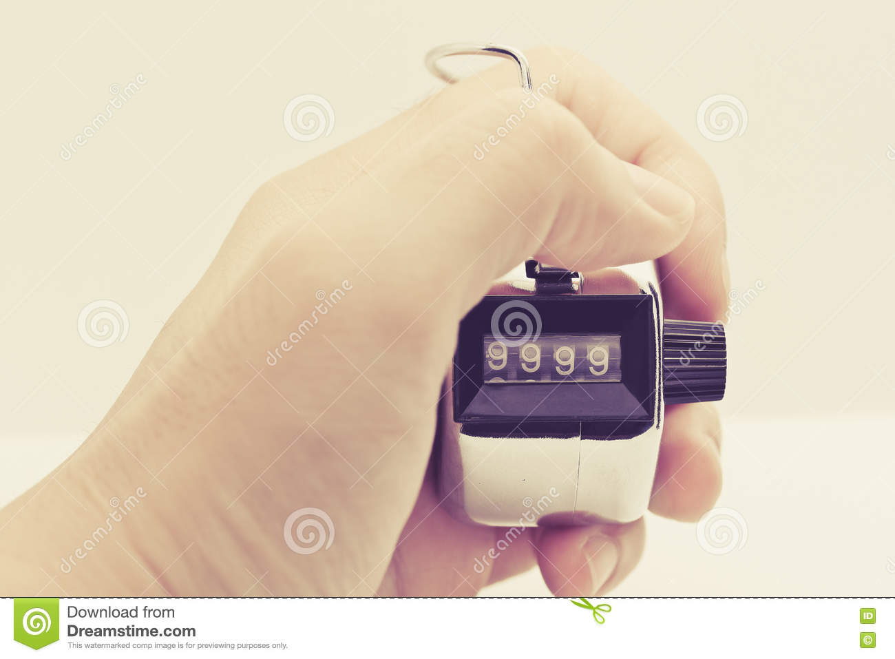 Tally counter stock photo  Image of hold, engagement - 66899578