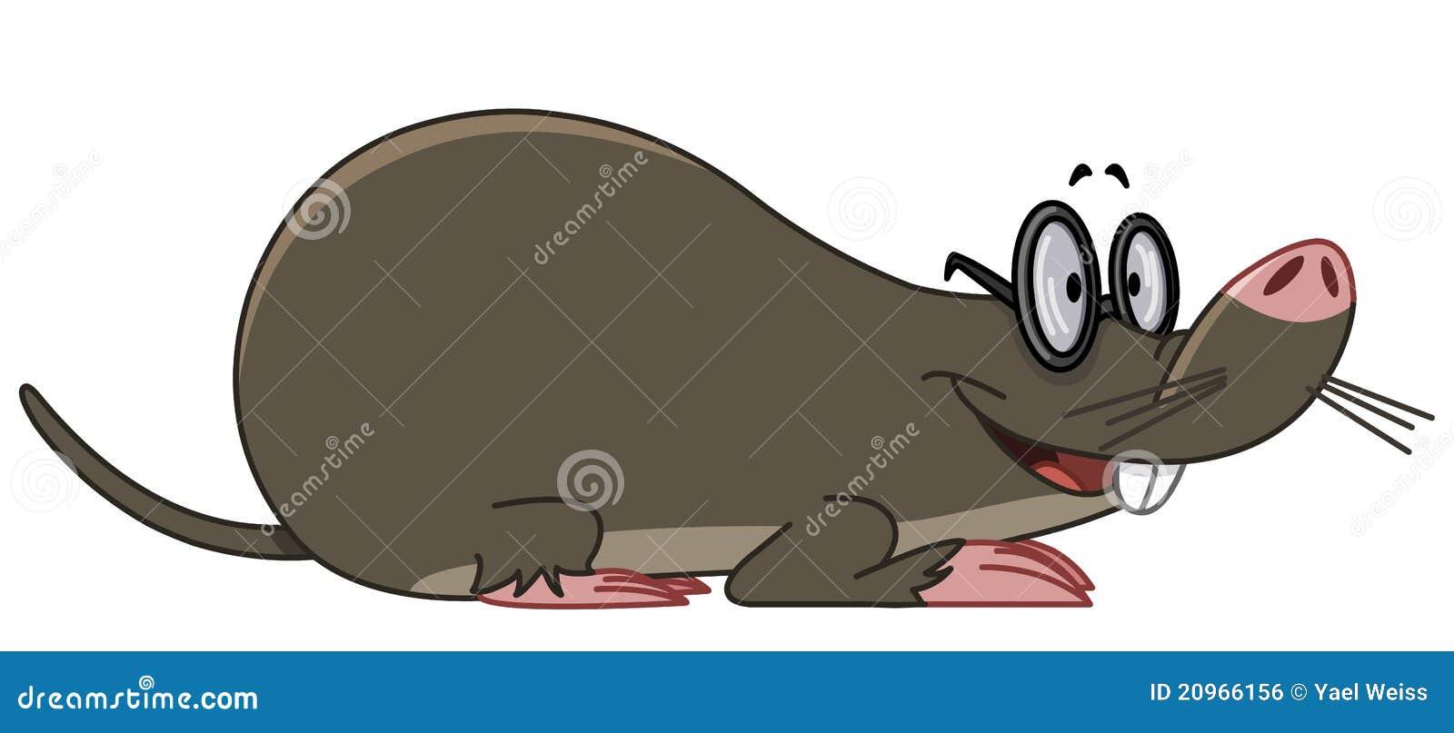 Illustrazione degli occhiali da portare sorridenti della talpa.