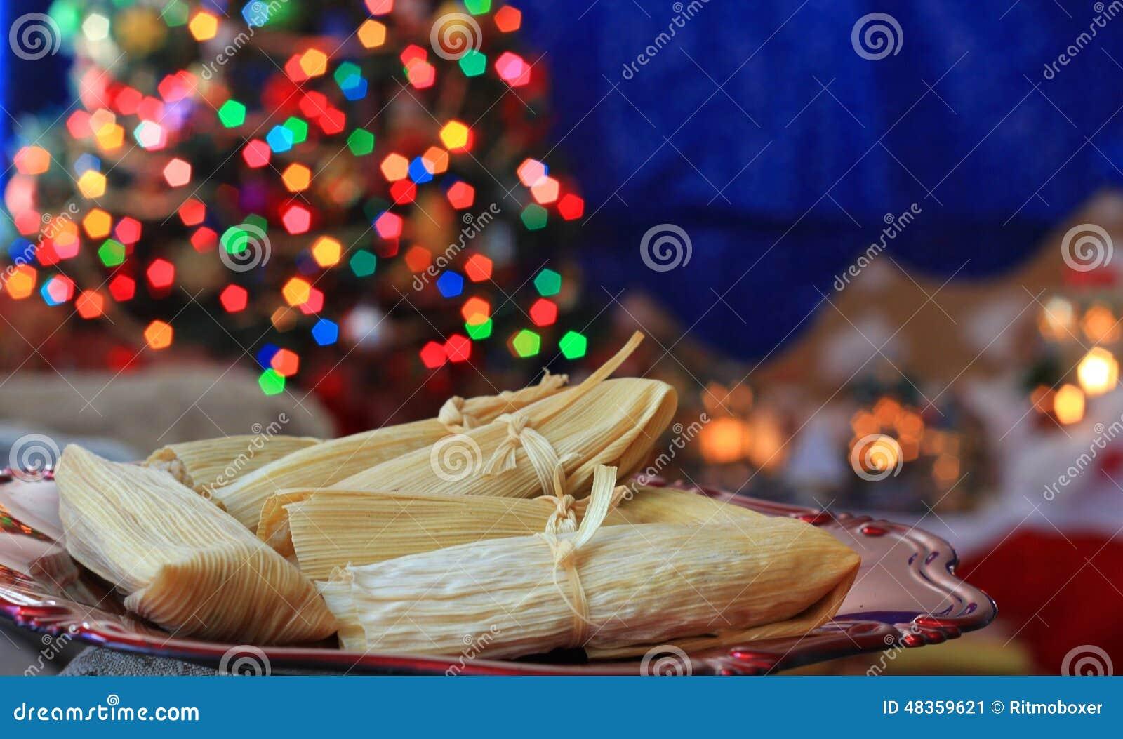 Tamales hechos en casa de la navidad imagen de archivo - La casa de la navidad ...