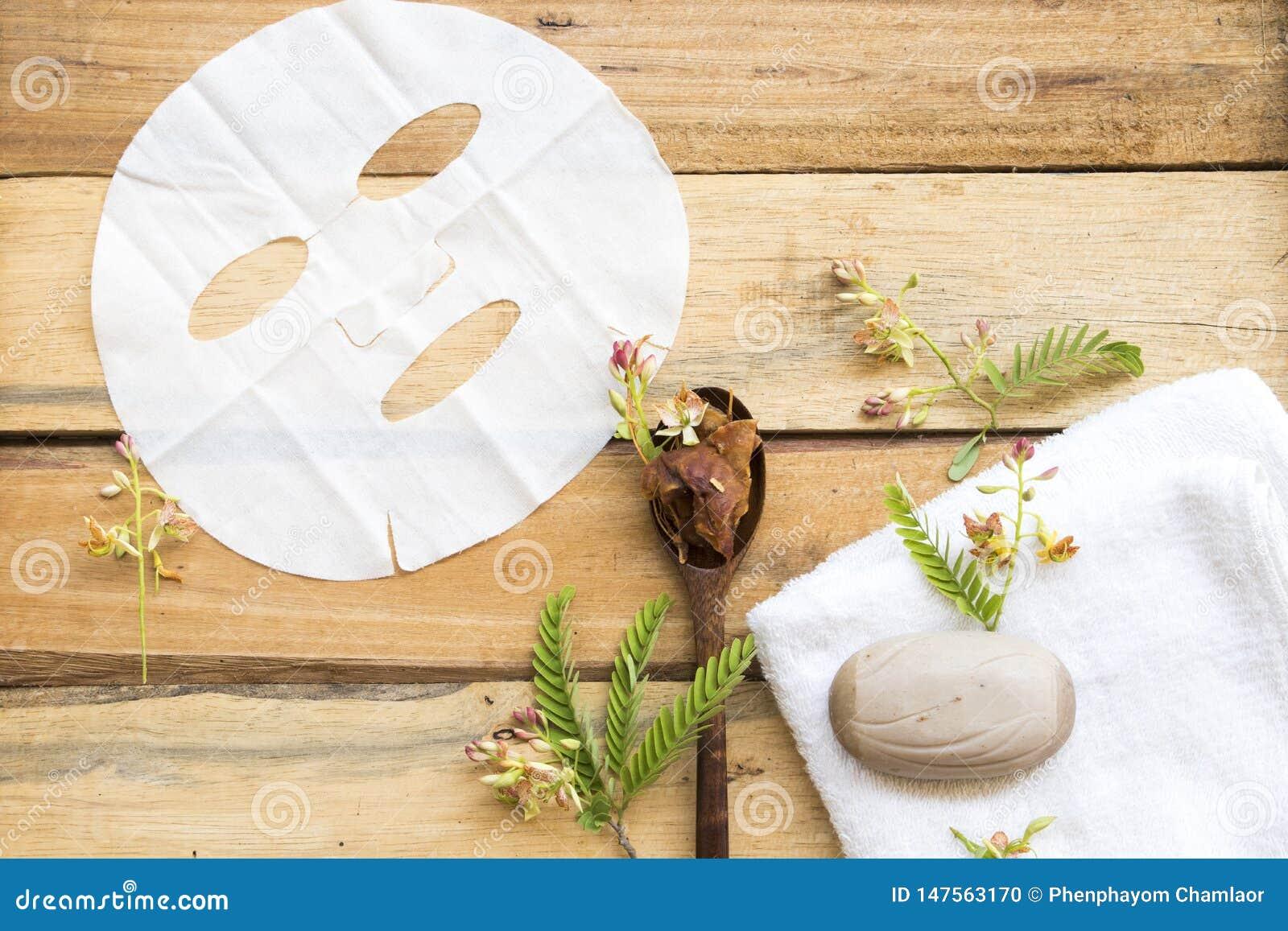 Tamarindo herbario del aroma de la hoja del extracto natural de la m?scara