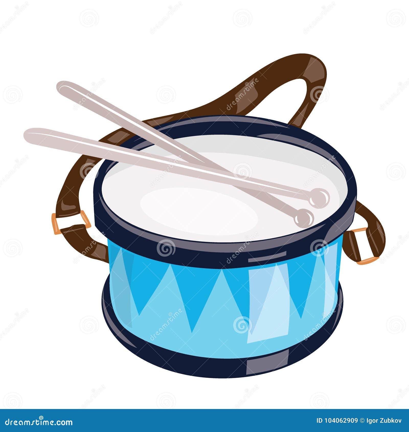 Historieta Del Instrumento De Blanco En Tambor La Un Fondo Musical PXkZiuTO