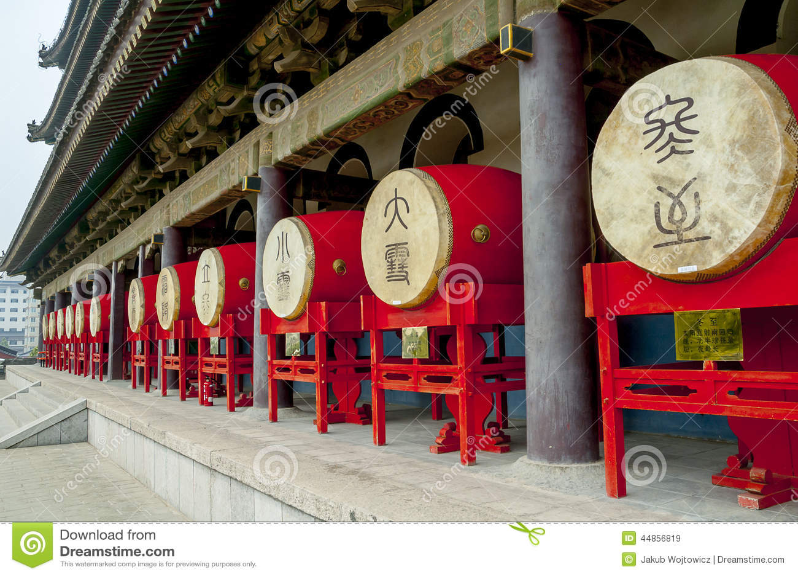 Tambores en el campanario en Xian