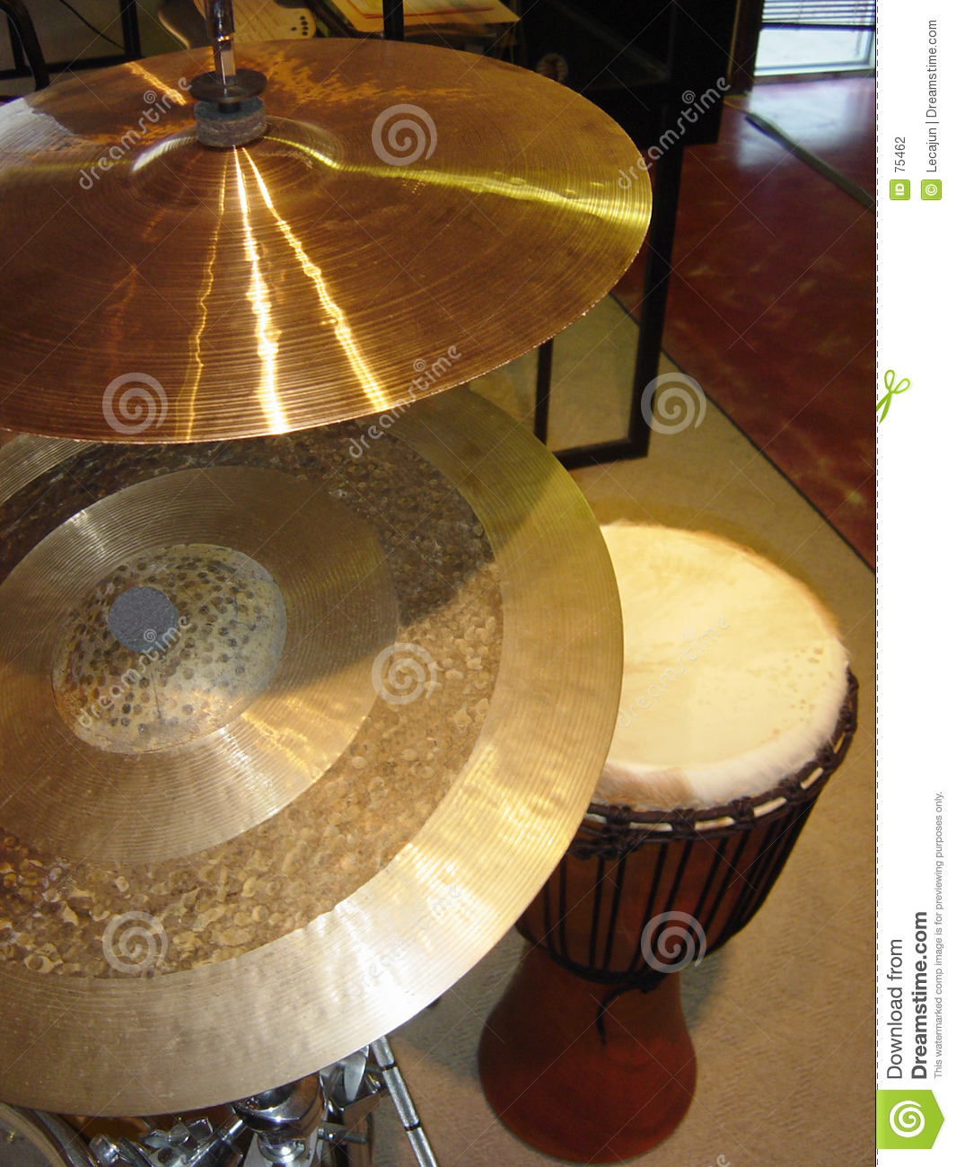 Tambours des cymbales N