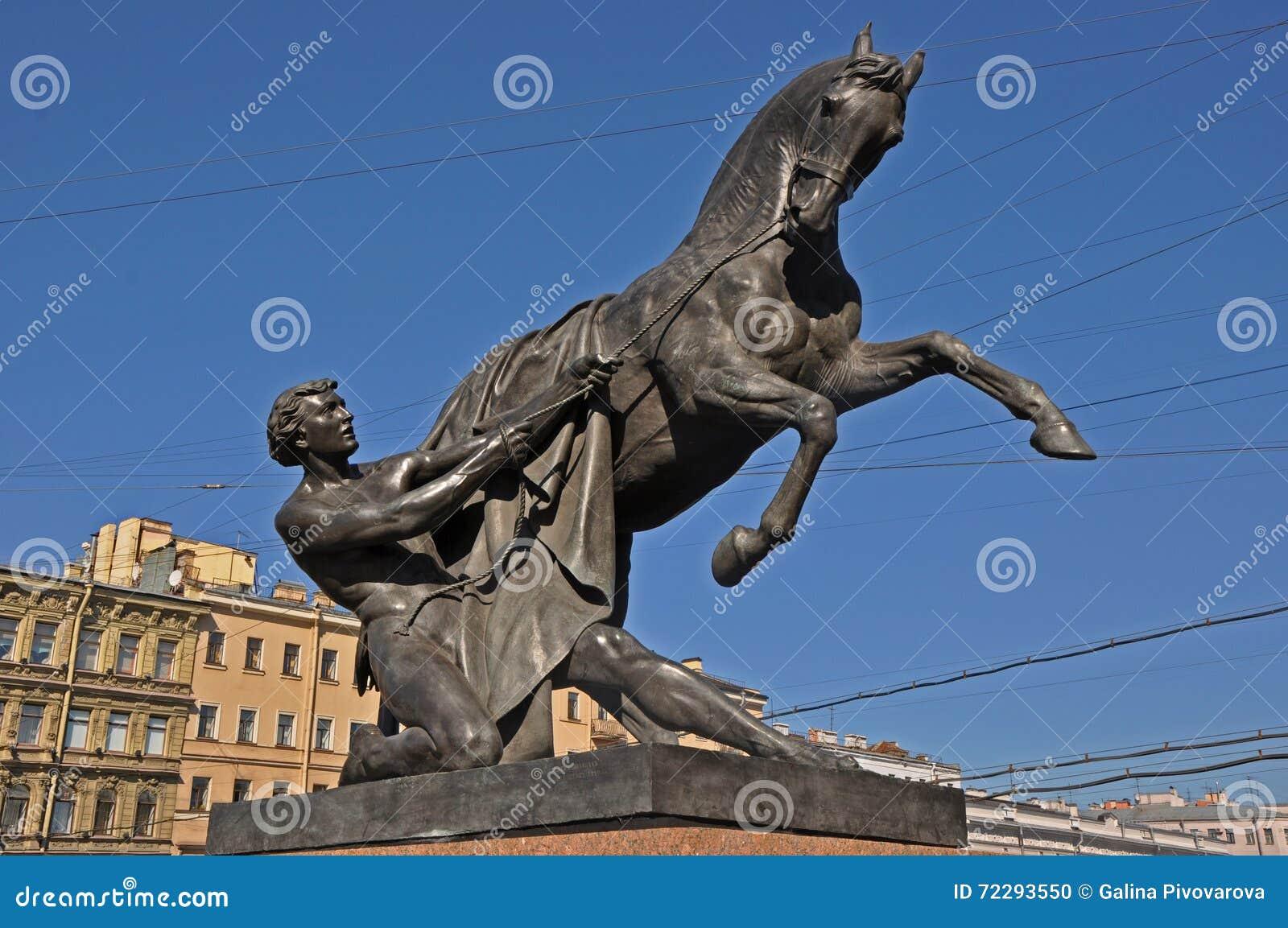Download Tamer лошадей в Санкт-Петербурге Стоковое Фото - изображение насчитывающей petersburg, россия: 72293550