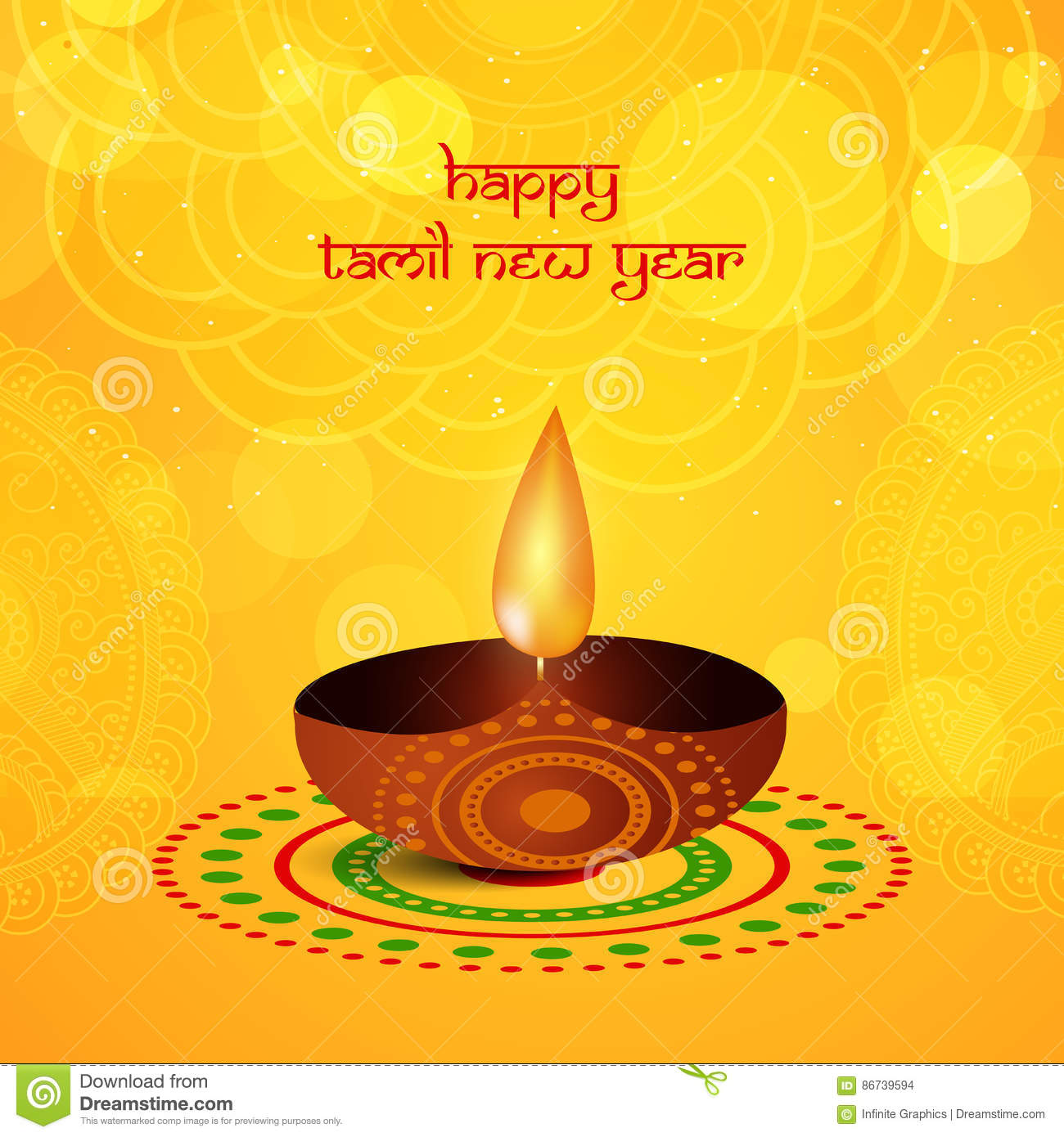 Tamil New Year Background Stock Vector Illustration Of Background