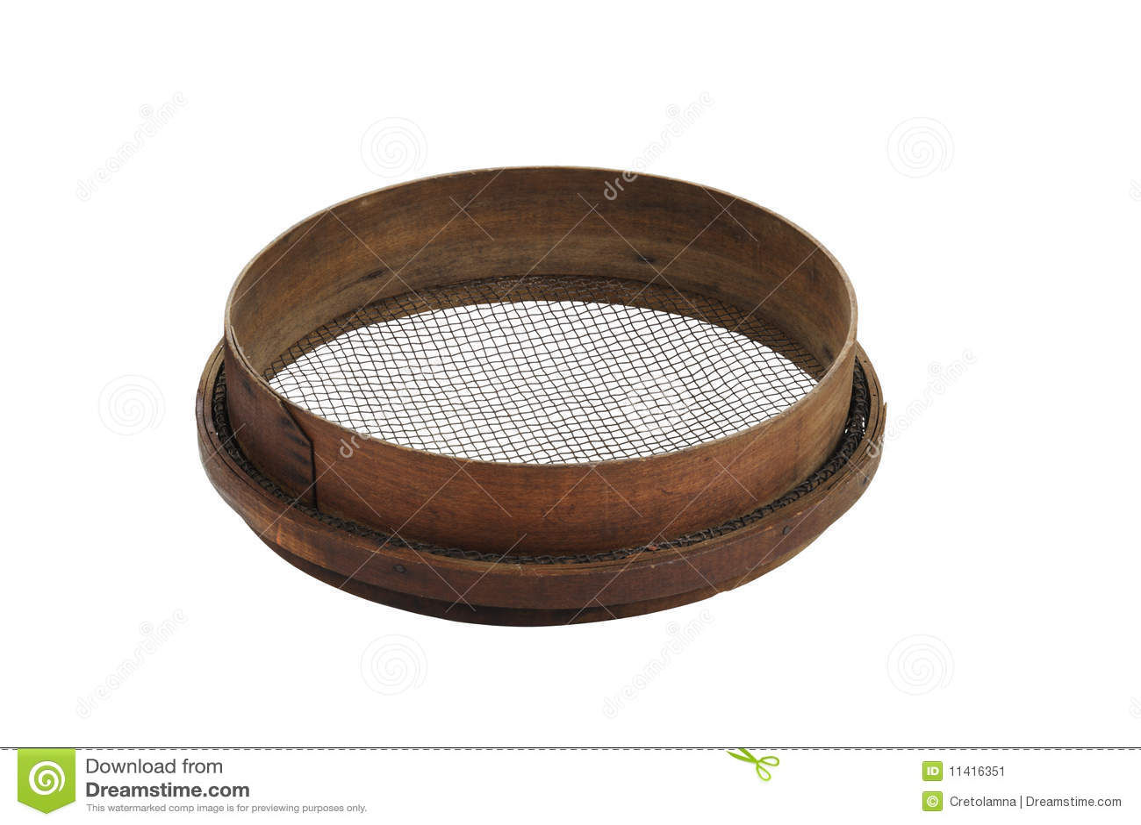 tamis en bois de jardin image stock image 11416351. Black Bedroom Furniture Sets. Home Design Ideas
