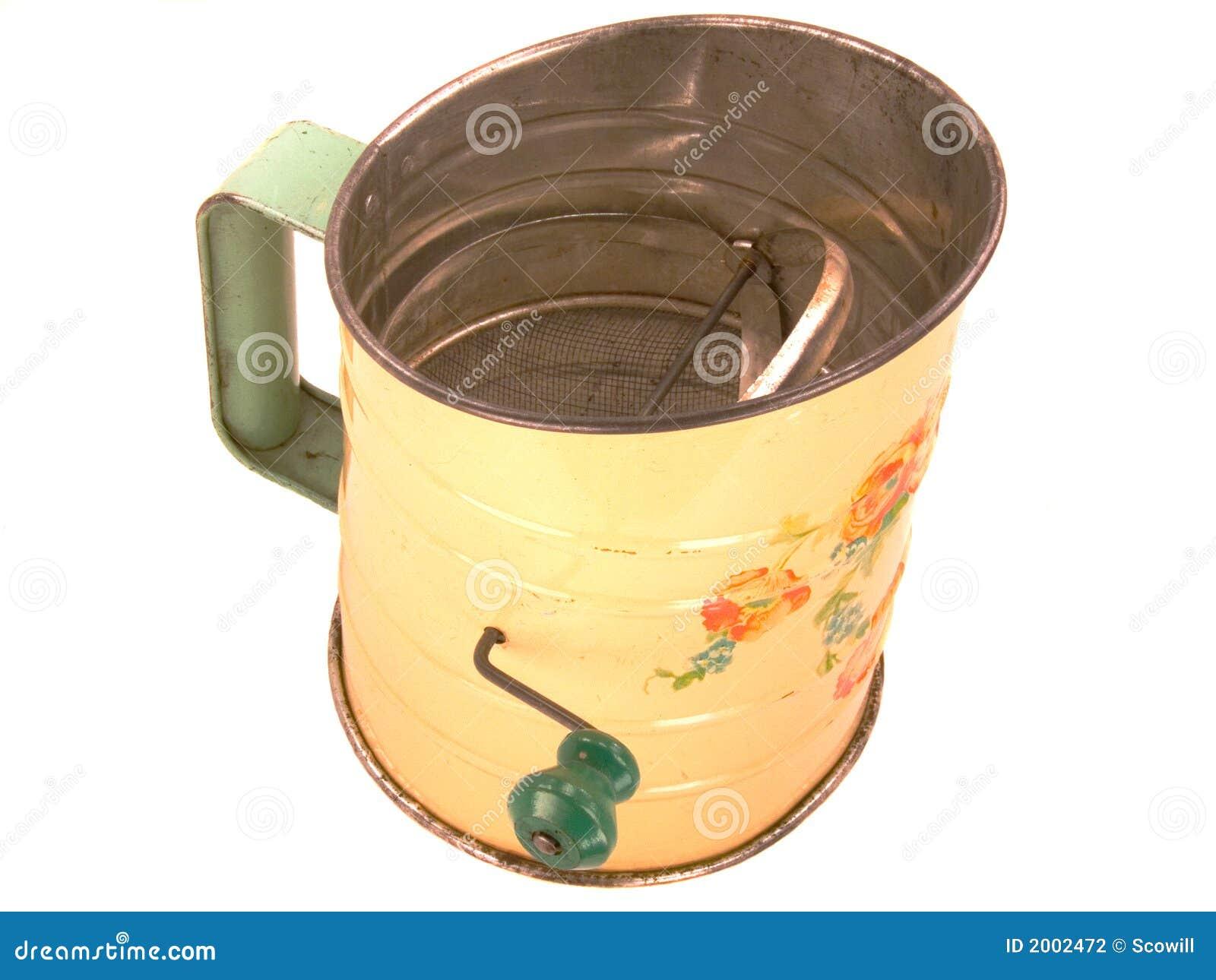 Tamiz antiguo de la harina del Tinware