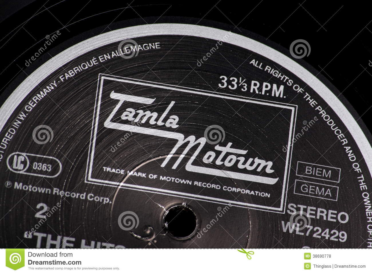 Tamla Motown Editorial Stock Photo Image 38690778