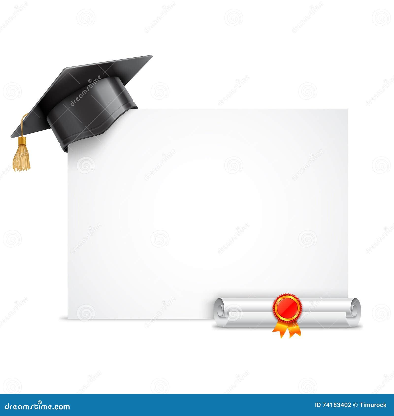 Tampão da graduação e rolo do diploma