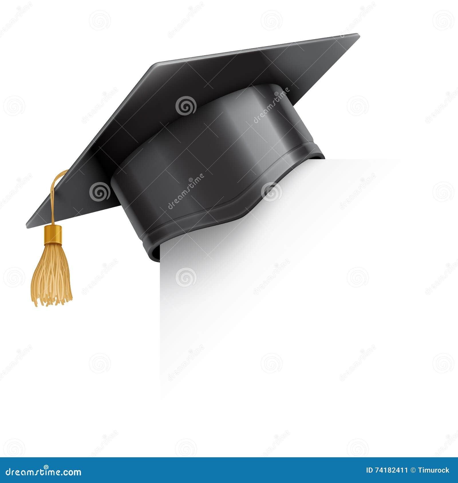 Tampão da graduação no canto de papel